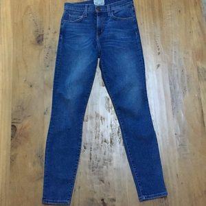 Current/Elliot High Waist Skinny Denim Jean